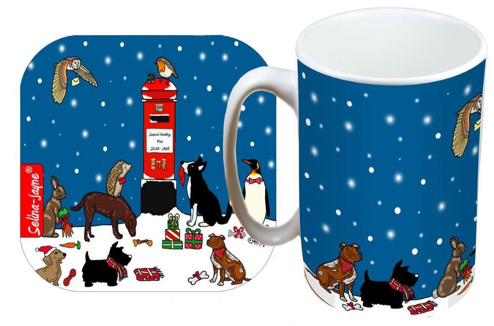 Selina-Jayne Christmas Limited Edition Designer Mug and Coaster Gift Set